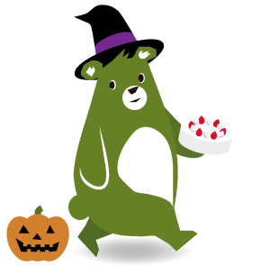森のくまさんのキャラクター ハロウィンバージョン