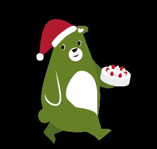 森のくまさんのキャラクター クリスマスバージョン